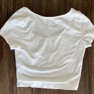 Ambiance Tops - White Crop Top 🌻